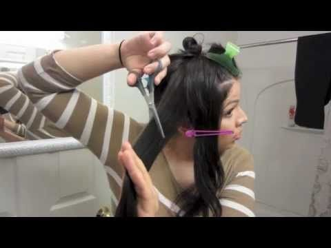 how to cut and layer your own hair