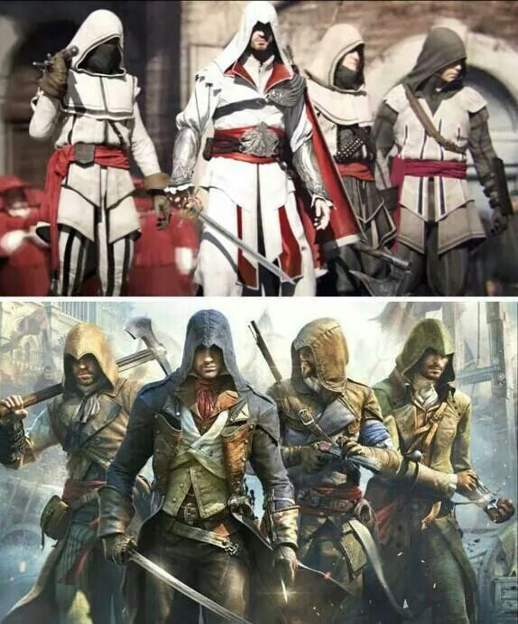 Assassin S Creed Brotherhood 2009 Assassin S Creed Unity 2014