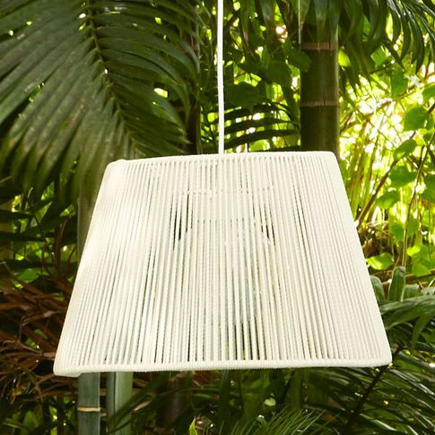 Woven Pinstripe Outdoor Pendant   west elm $180.00 (With ...