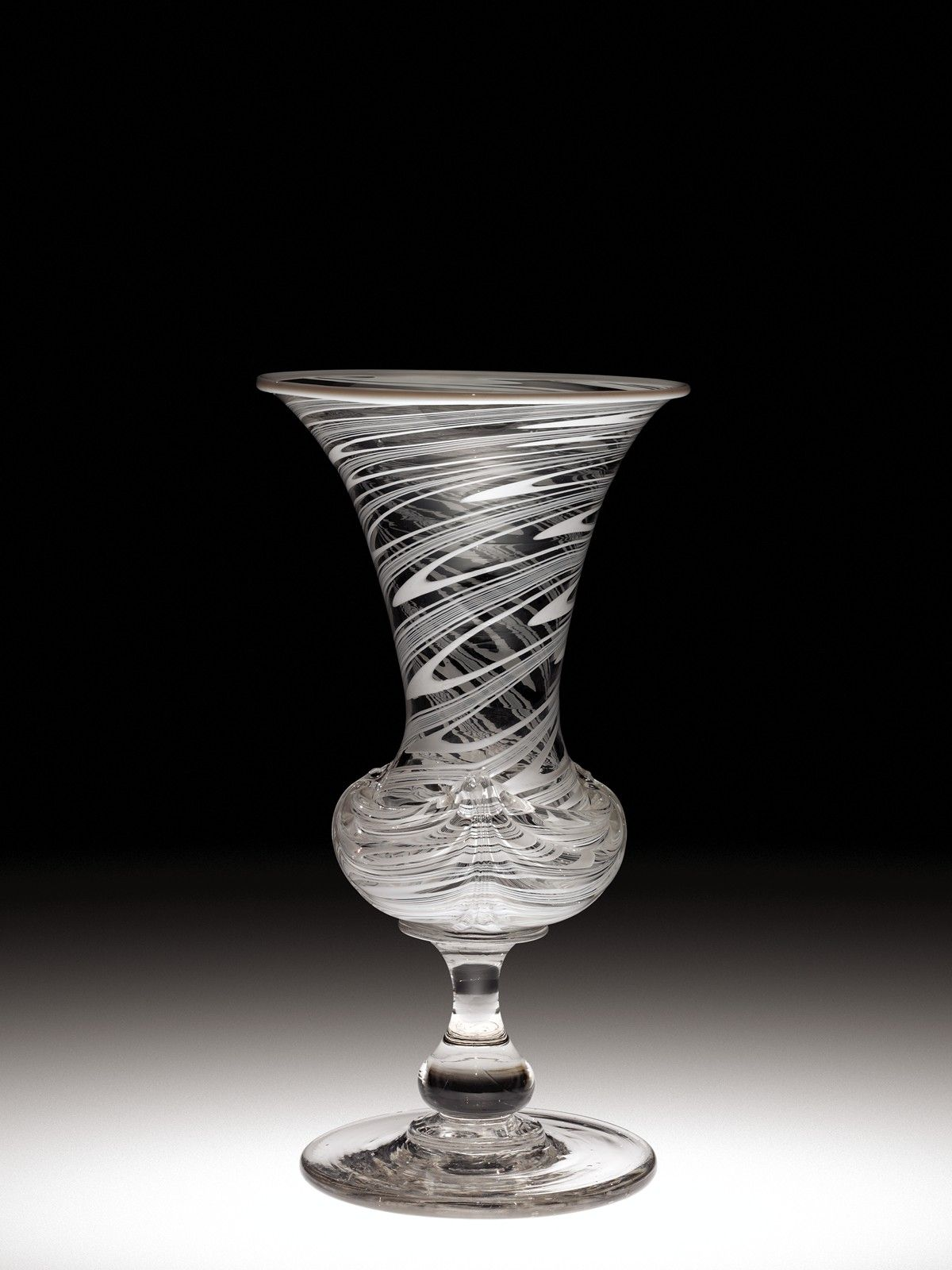 American Glass Vase With Applied Decoration By The New England
