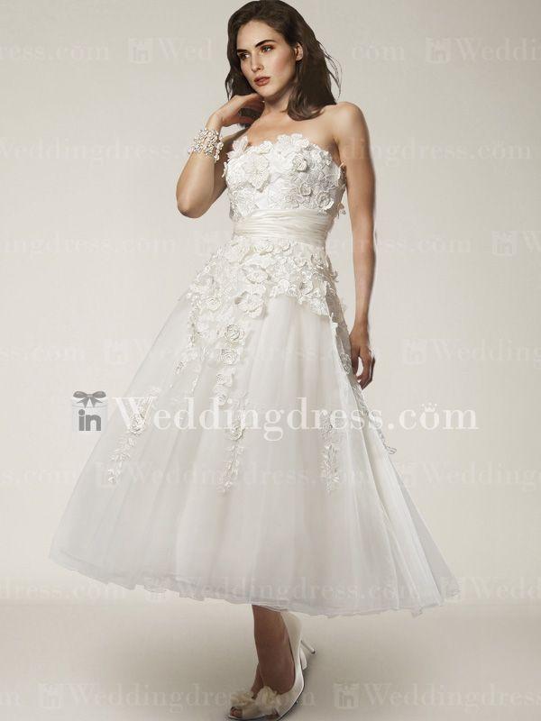 Short Length Wedding Dresses Home Tea Length Tulle Lace