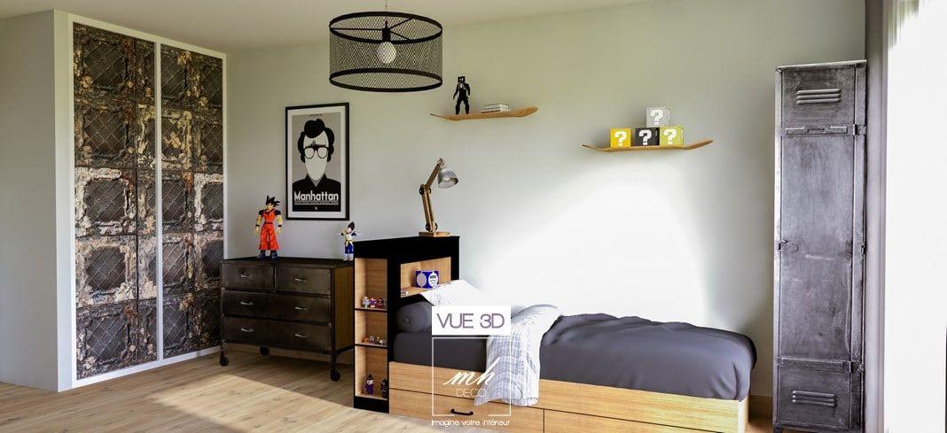 Chambre d\'adolescent au style loft New-Yorkais   ✎ Il était...Une ...
