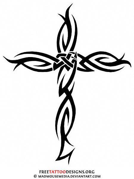 Tribal Crucifix Tattoos