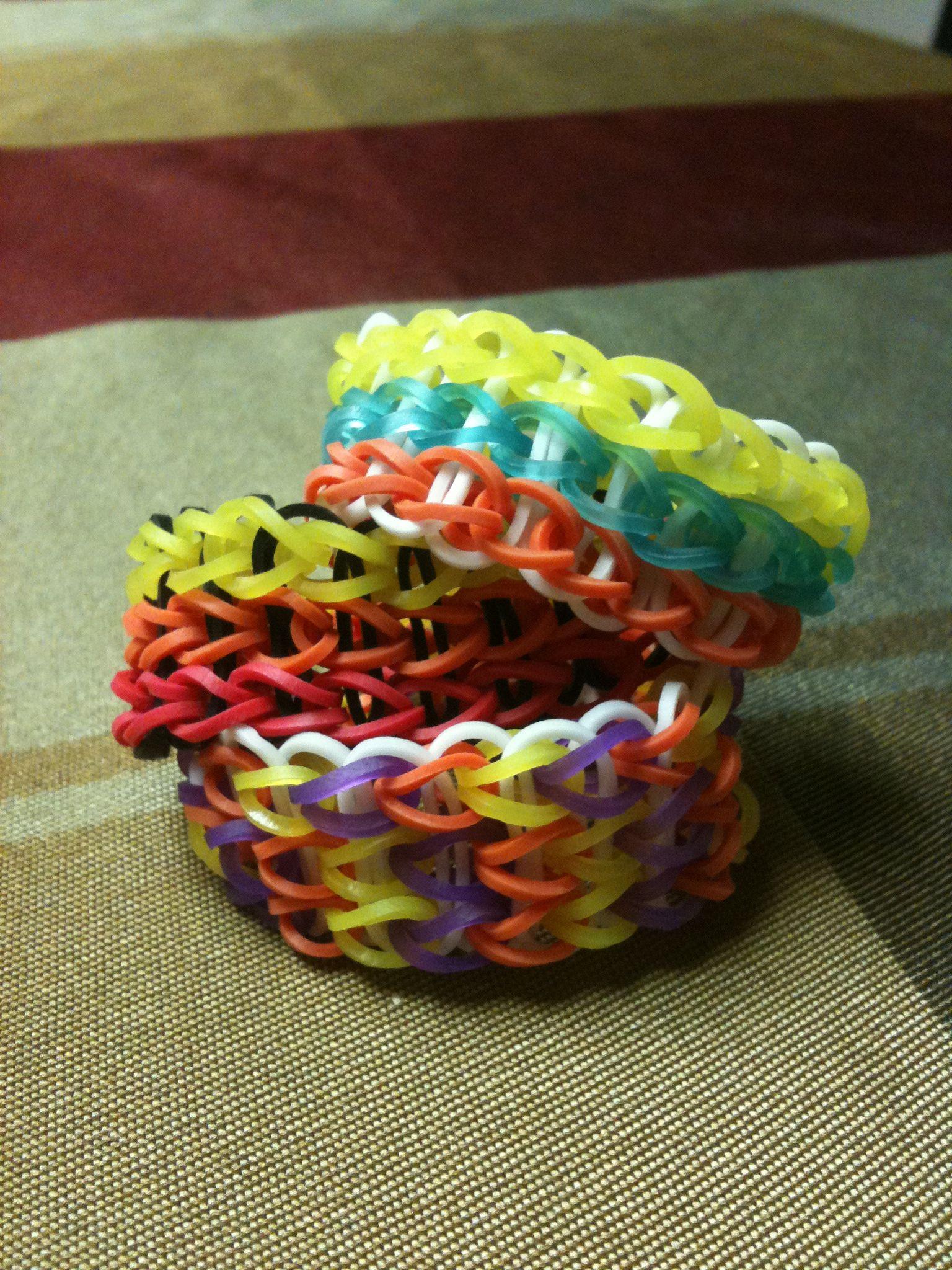 Triple triple/ single rainbow loom bracelets | Rainbow