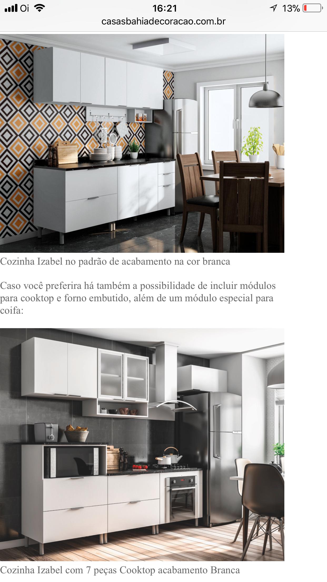 Armario De Cozinha Izabel Confira Incrveis Cozinhas Modernas Que