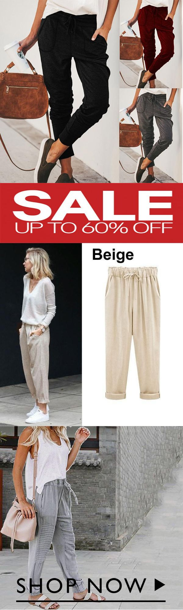 Photo of Pantaloni cropped in cotone taglie forti da donna