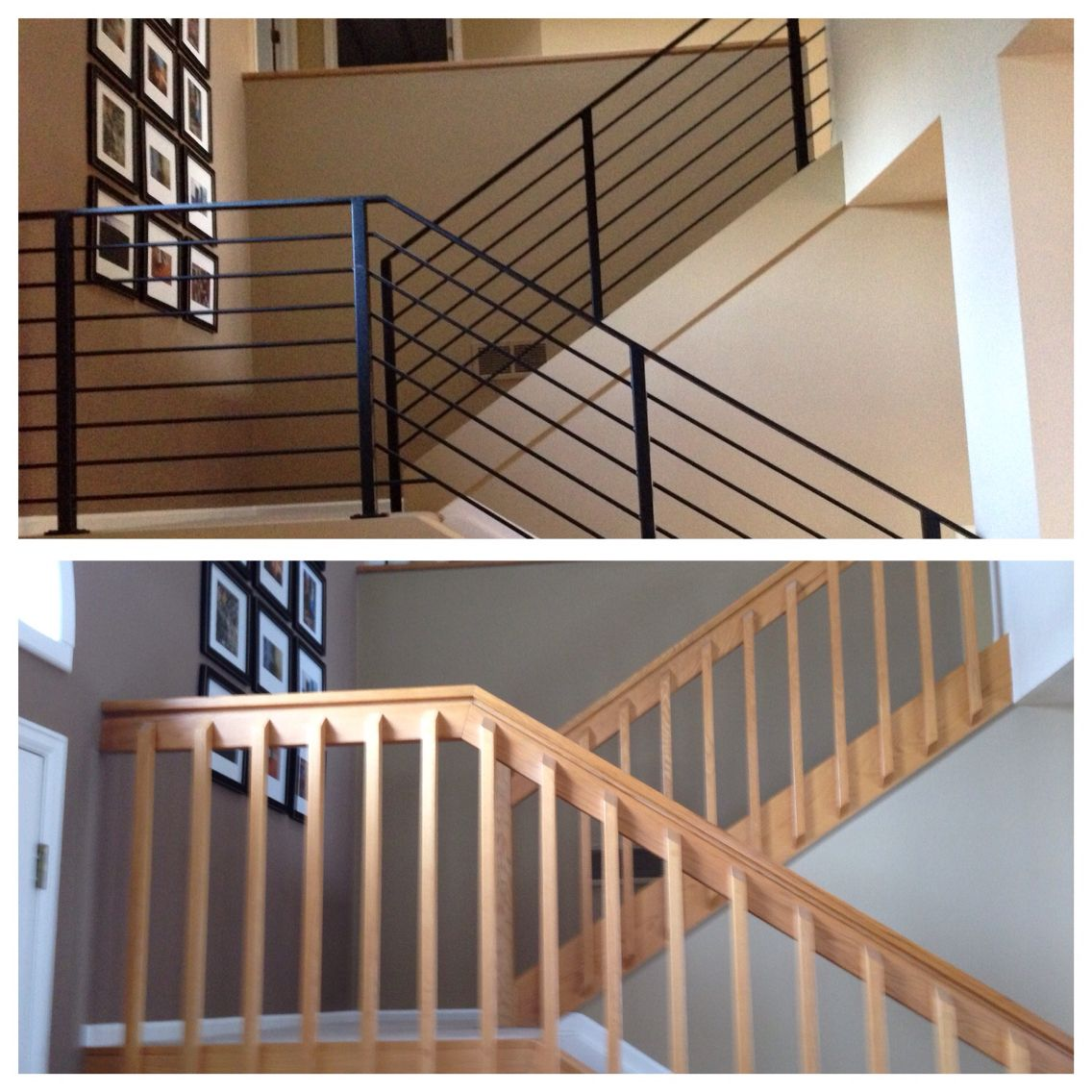 Best Metal Stair Railings So Excited To Have Gotten Rid Of 400 x 300