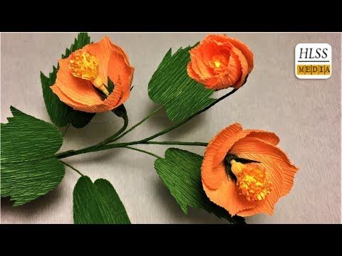 How to make vein indian mallow paper flower diy paper flower making how to make vein indian mallow paper flower diy paper flower making easy youtube mightylinksfo