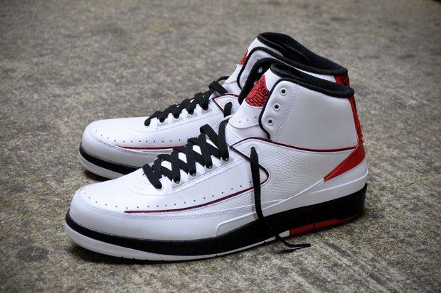Air Jordan 2 Retro White Black Varsity Red A Closer Look Air