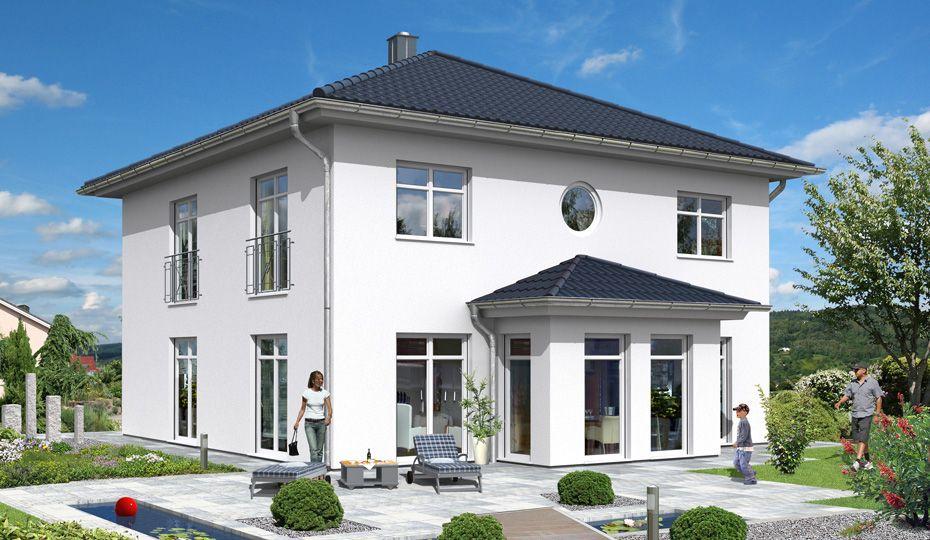 Gartenansicht Stadtvilla, Haus, Fassade haus