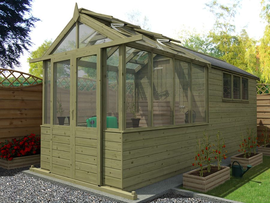 Image Result For Shed With Greenhouse Attached
