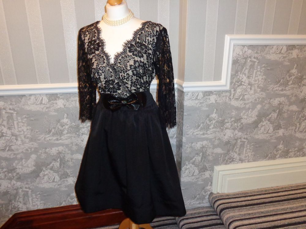 Stunning Black Lace Valentine S Ball Roman Cocktail Dress Size 18 Wedding Cruise Fashion Clothing Shoes Accessories W With Images Size 18 Dress Dresses Cocktail Dress