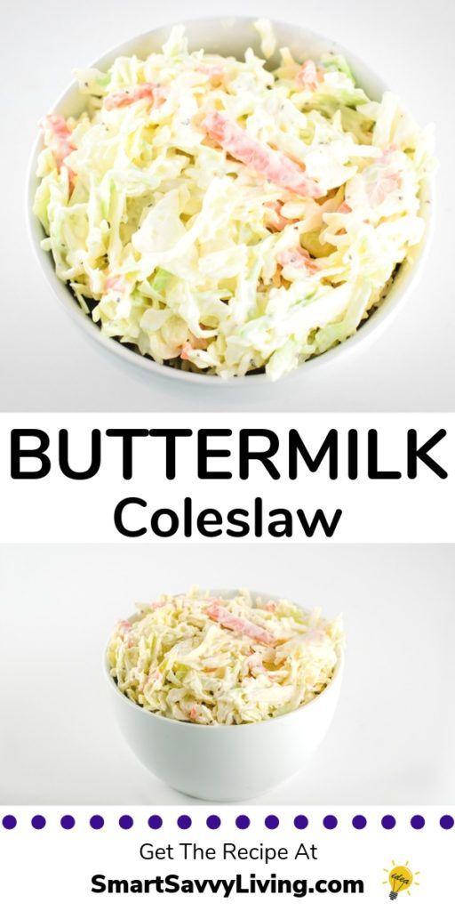 Buttermilch-Krautsalat-Rezept  Dieses klassische Krautsalat-Rezept eignet sich hervorragend für Sandwiches oder als Beilage zu jedem Cookout oder Potluck.