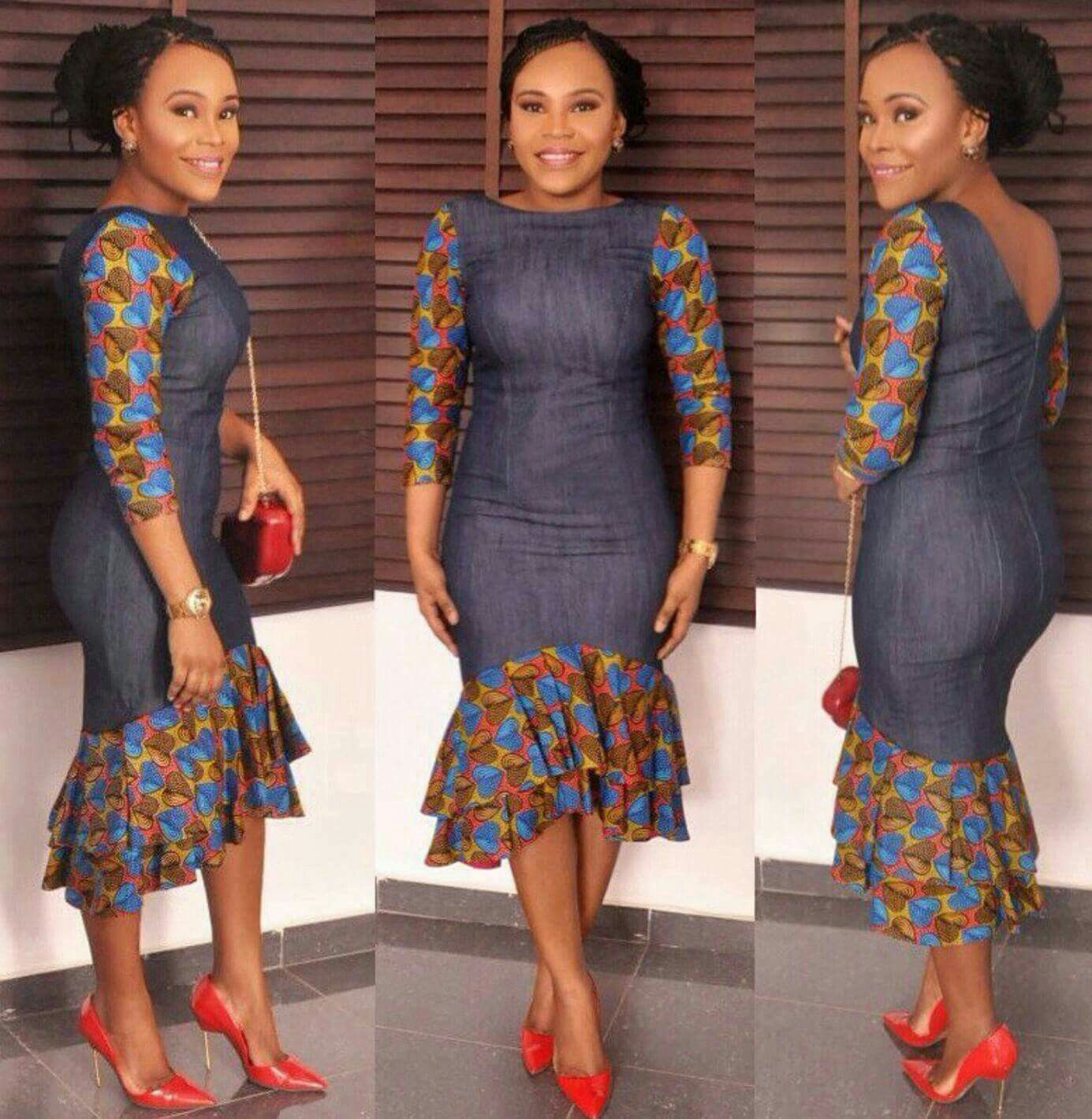 Fitting Denim And Ankara Plus Styles In 2019 African Fashion