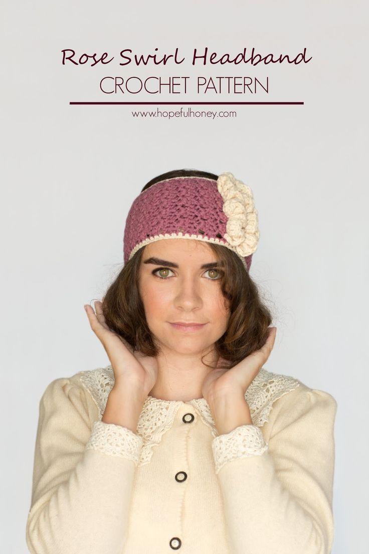 1920\'s Rose Swirl Headband Crochet Pattern | Free crochet, Headband ...