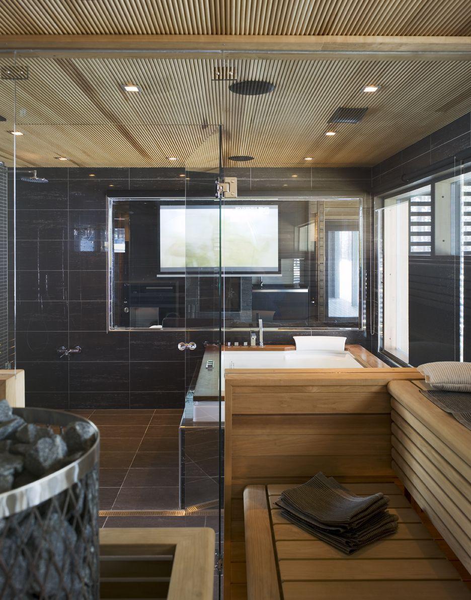 Luxury Home Sauna Cedardirect Com: Arctic Luxury. Honka Log Homes.