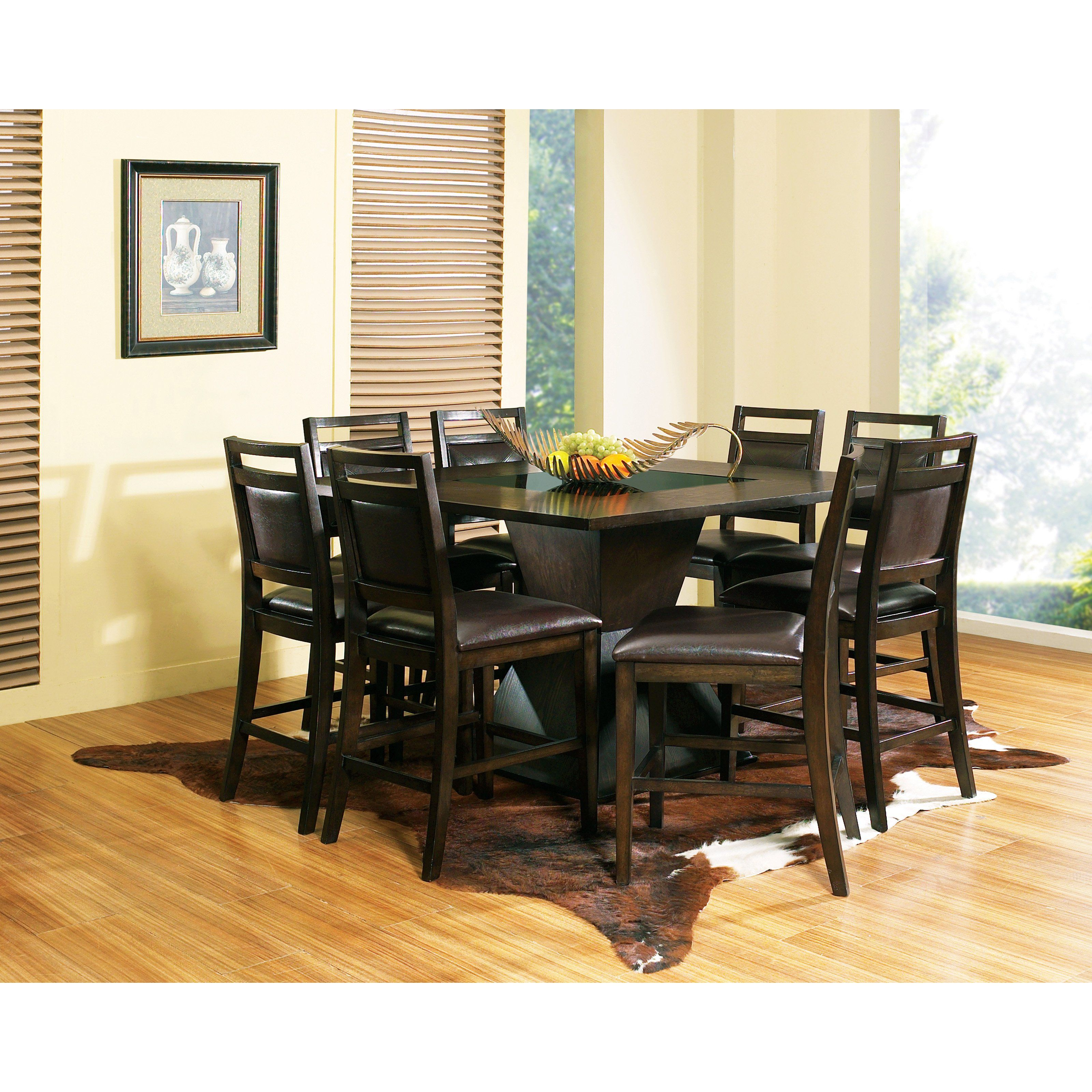 Have to have it. Steve Silver 9 Piece Malbec Counter Height Dining ...