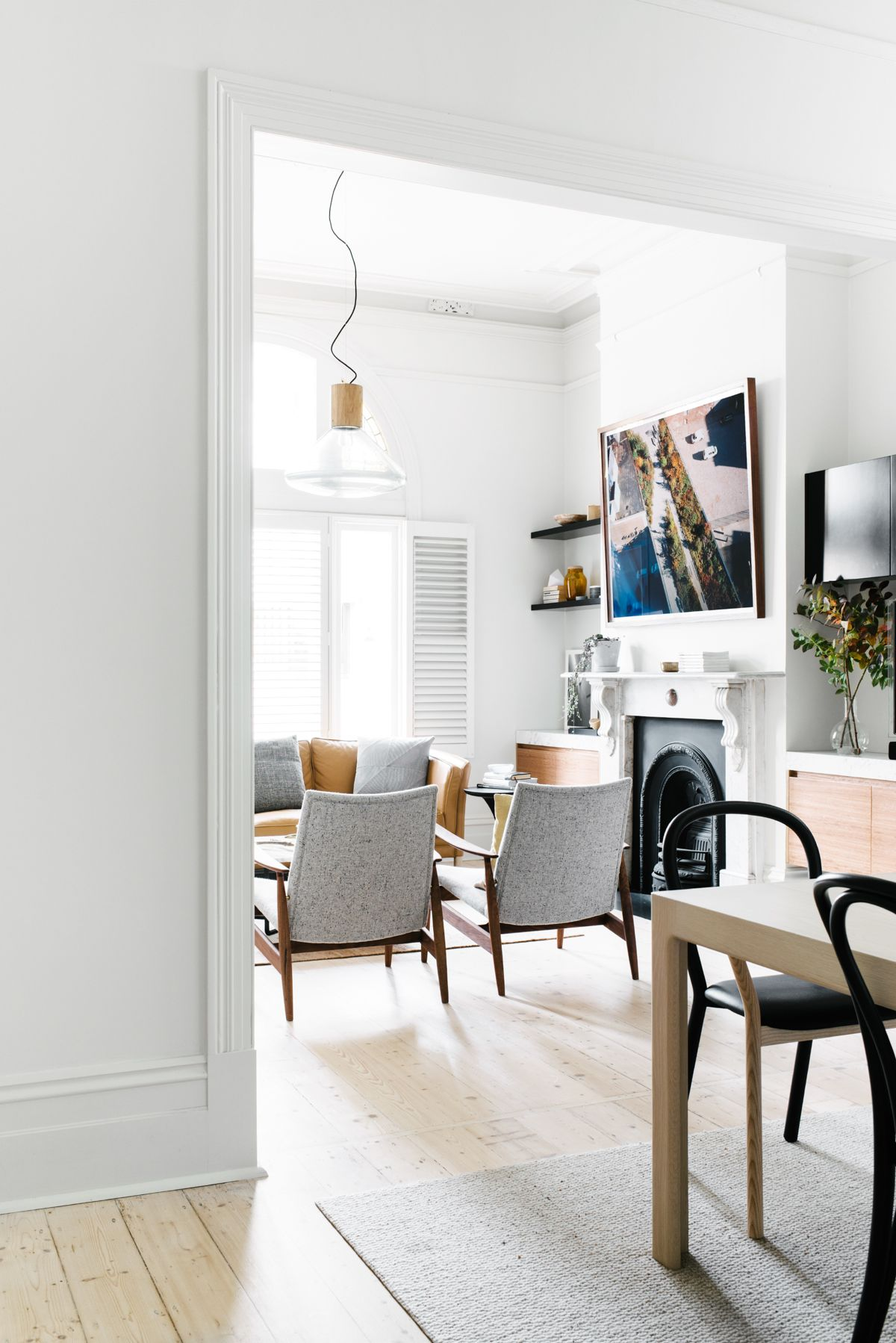 A Scandinavian inspired renovation has transformed this traditional