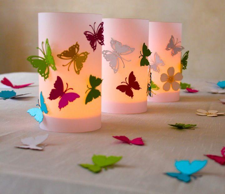 Tischdeko Windlicht Schmetterling