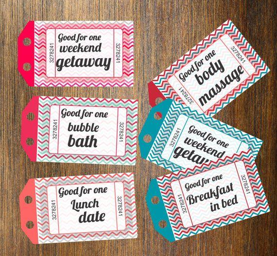 coupon books for boyfriend ideas