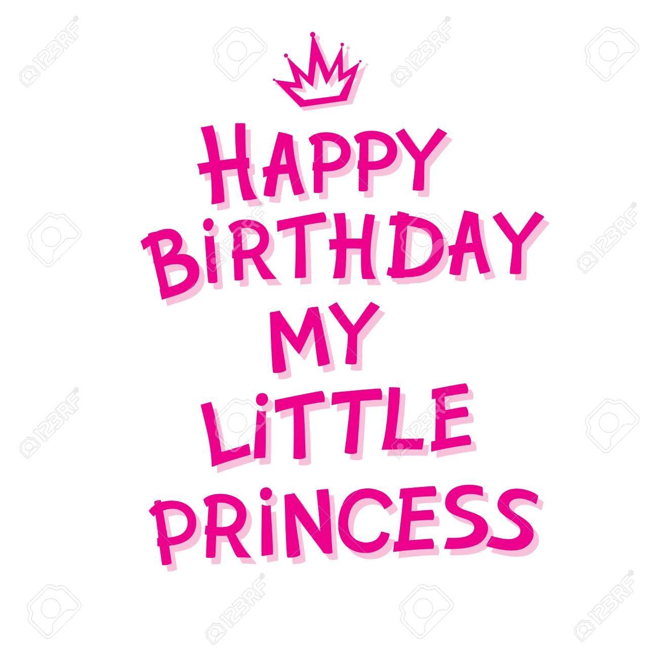 Stock Vector Happy Birthday Princess Quotes Happy Birthday