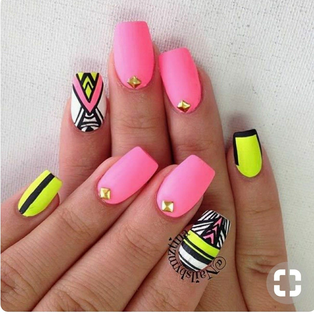 Pin by Courteney Greer on pink nail polish | Pinterest | Aztec nails ...