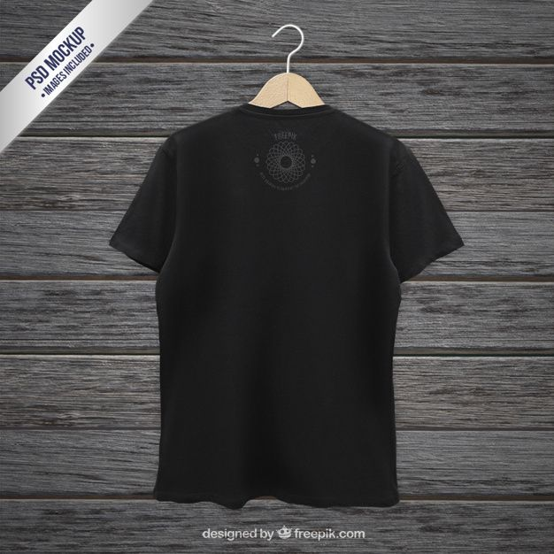 Download Download Black T Shirt Back Mockup For Free Clothing Mockup Shirt Mockup Clothing Templates