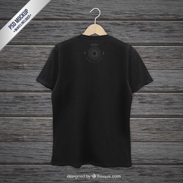 Download Download Black T Shirt Back Mockup For Free Clothing Mockup Shirt Mockup Clothing Templates