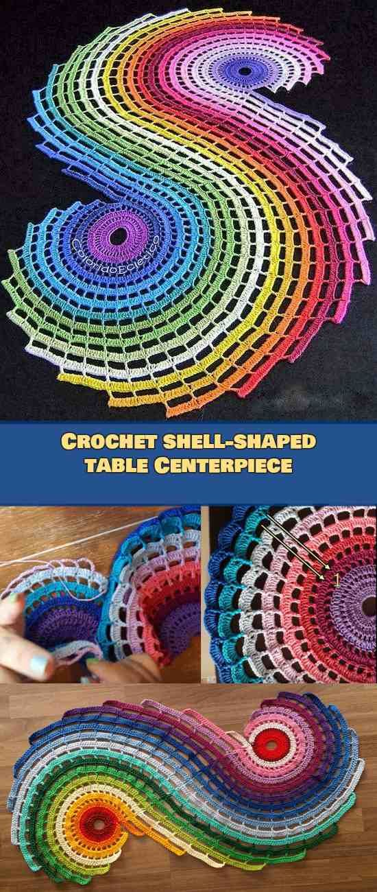 Shell-shaped Table Centrepiece [Free Crochet Pattern and Video ...