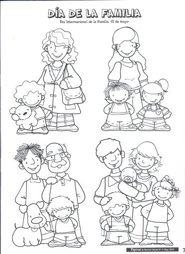 7f9a5d56abbf333b78fc607ccd4cd6df Jpg 372 512 Family Sketch Cartoon People Family Theme