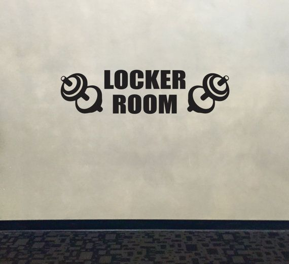 Locker room wall decal gym wall decal locker room sign locker