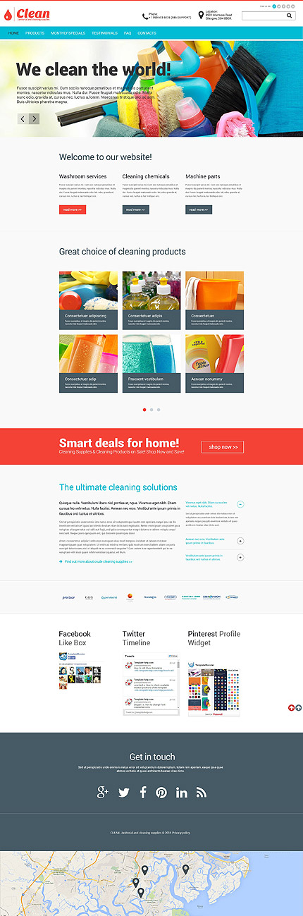 janitorial cleaning supplies website template themes business