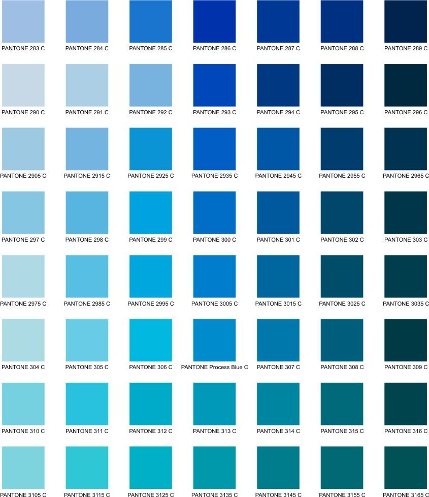 Cyan Color Chart | Cyan: Color of the millennium