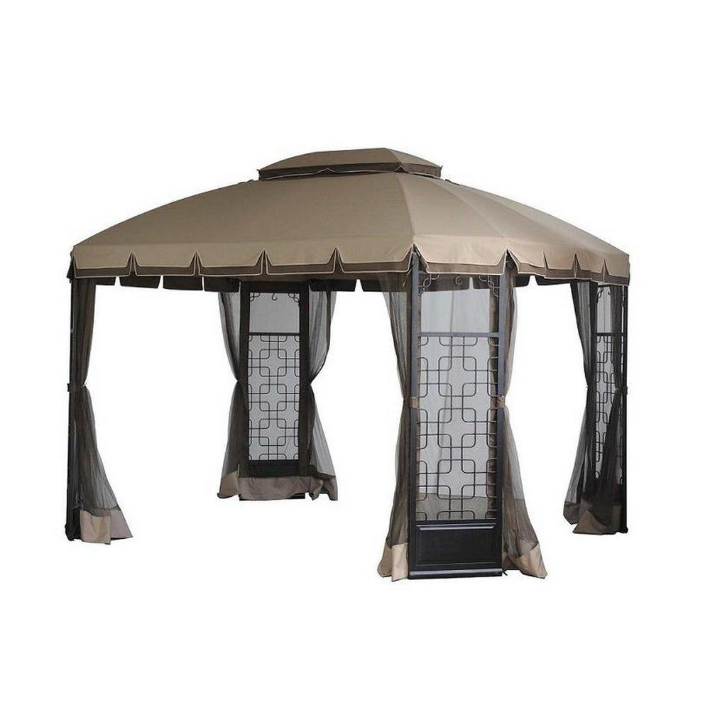 Sunjoy Replacement Canopy Set Deluxe For L Gz454pst A Trellis Gazebo Beige Fabric In 2020 Gazebo Replacement Canopy Canopy Cover