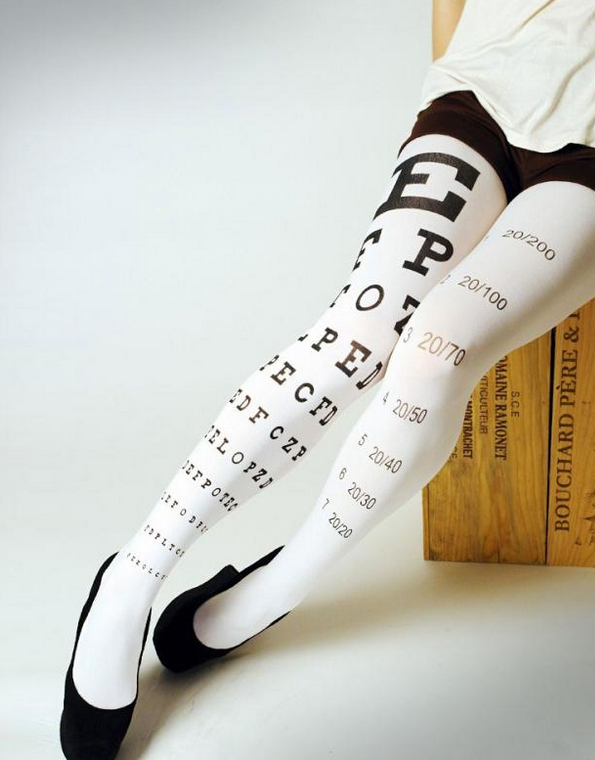 8833221d4a07a Eye Exam Chart Tights | Talk to Me | Cool tights, Socks, Clothes