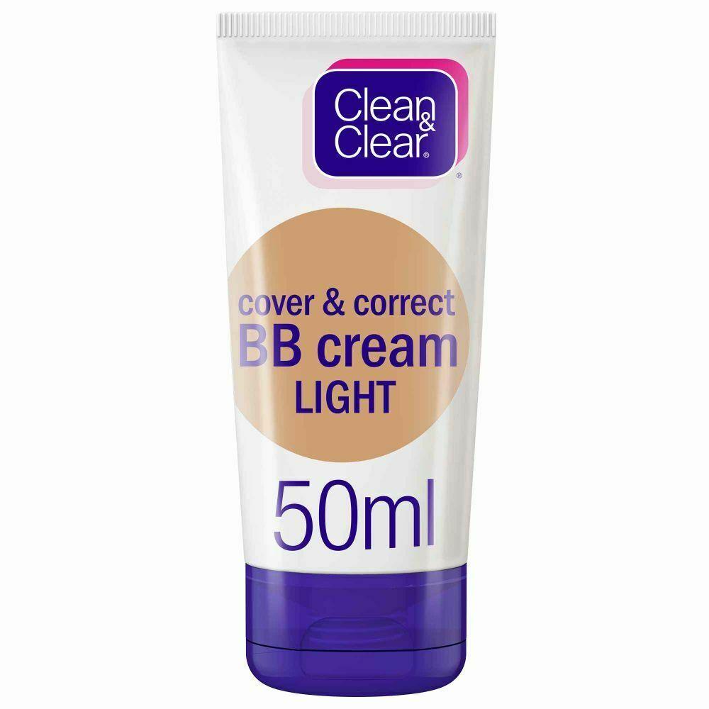 Clean Clear Bb Cream Cover Correct Light 50ml Cleanclear