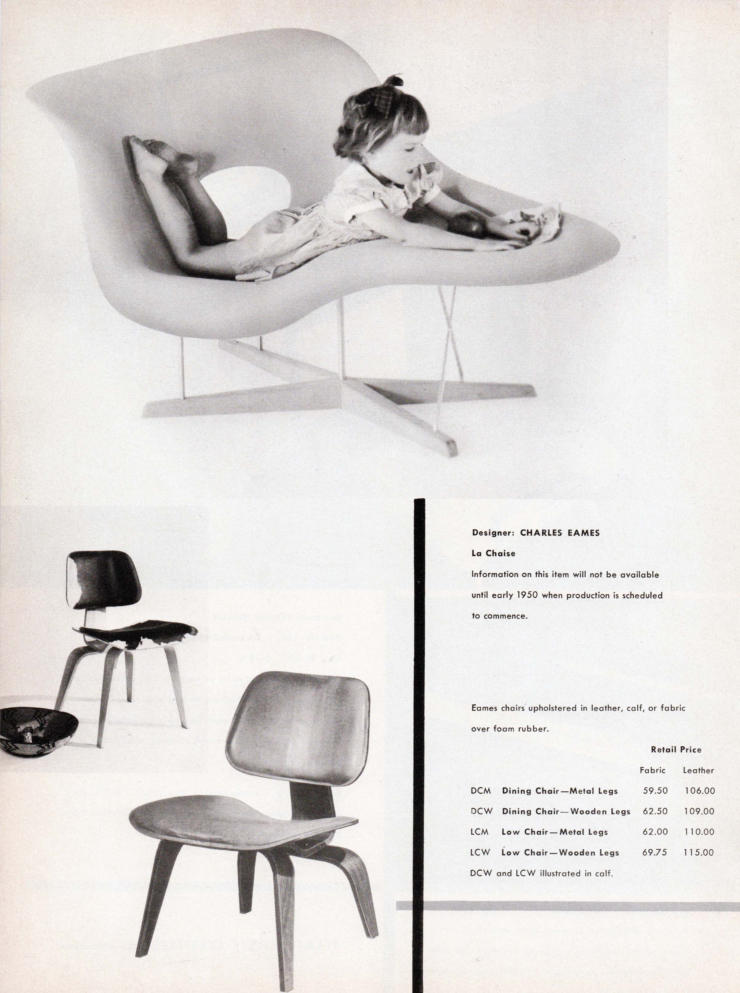 The first appearance of the #Eames LA CHAISE in Furniture