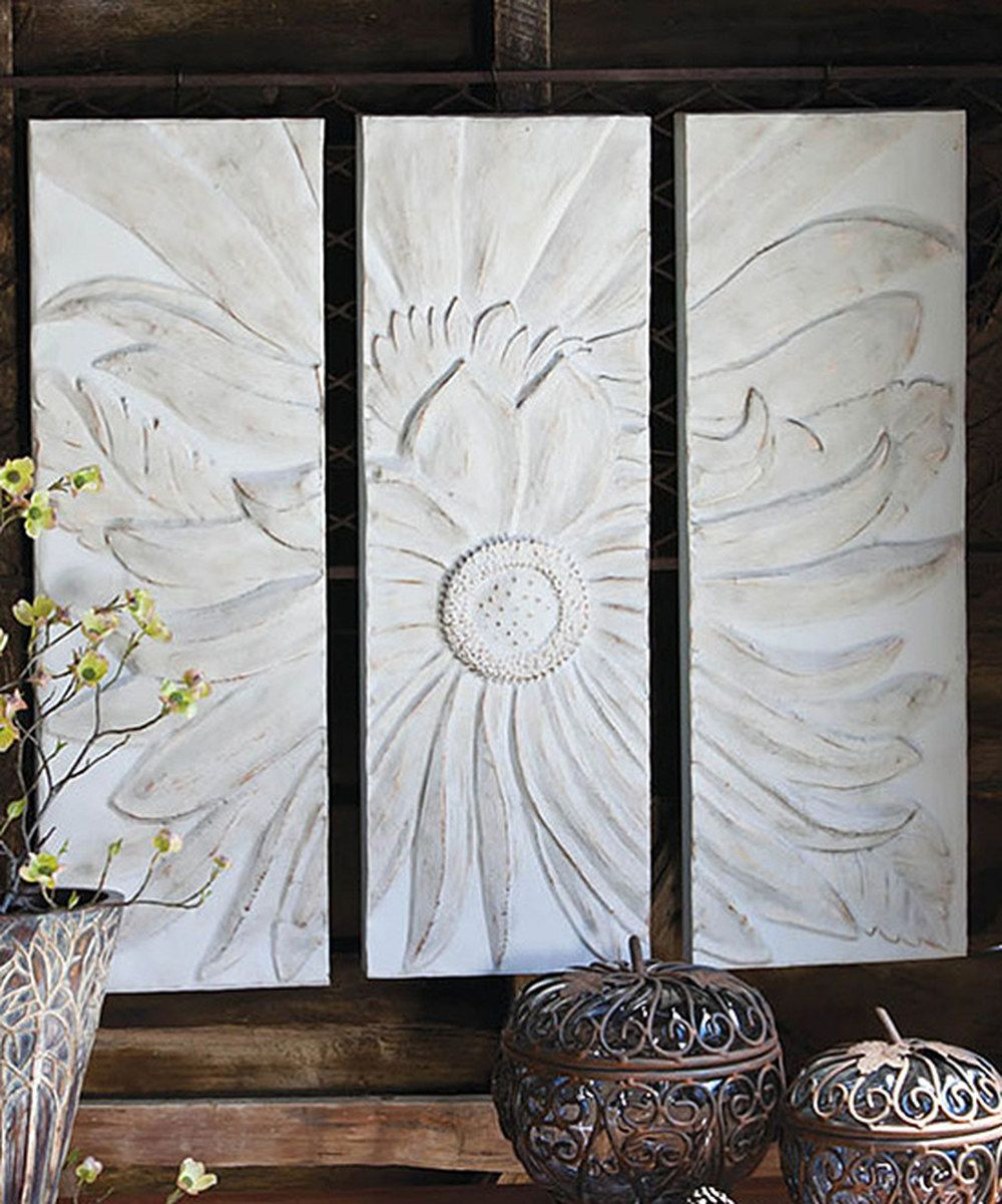 Look at this Metal Flower Wall Decor Set on #zulily today!