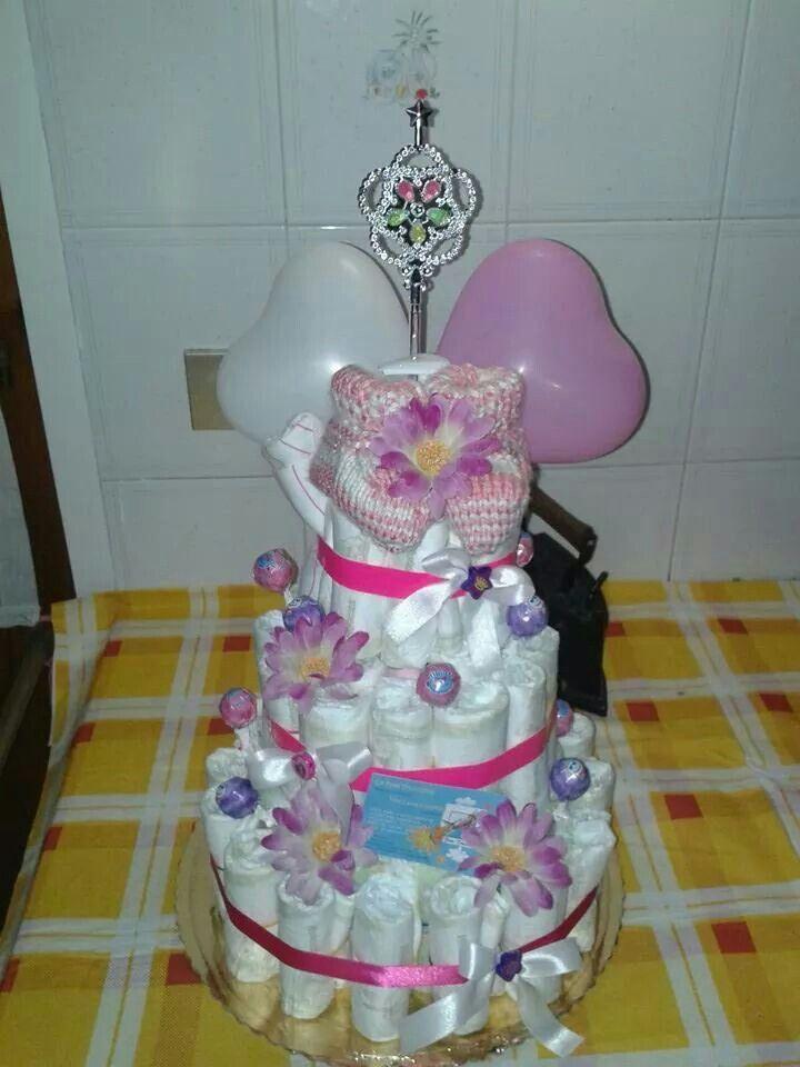 Diaper cake principessa