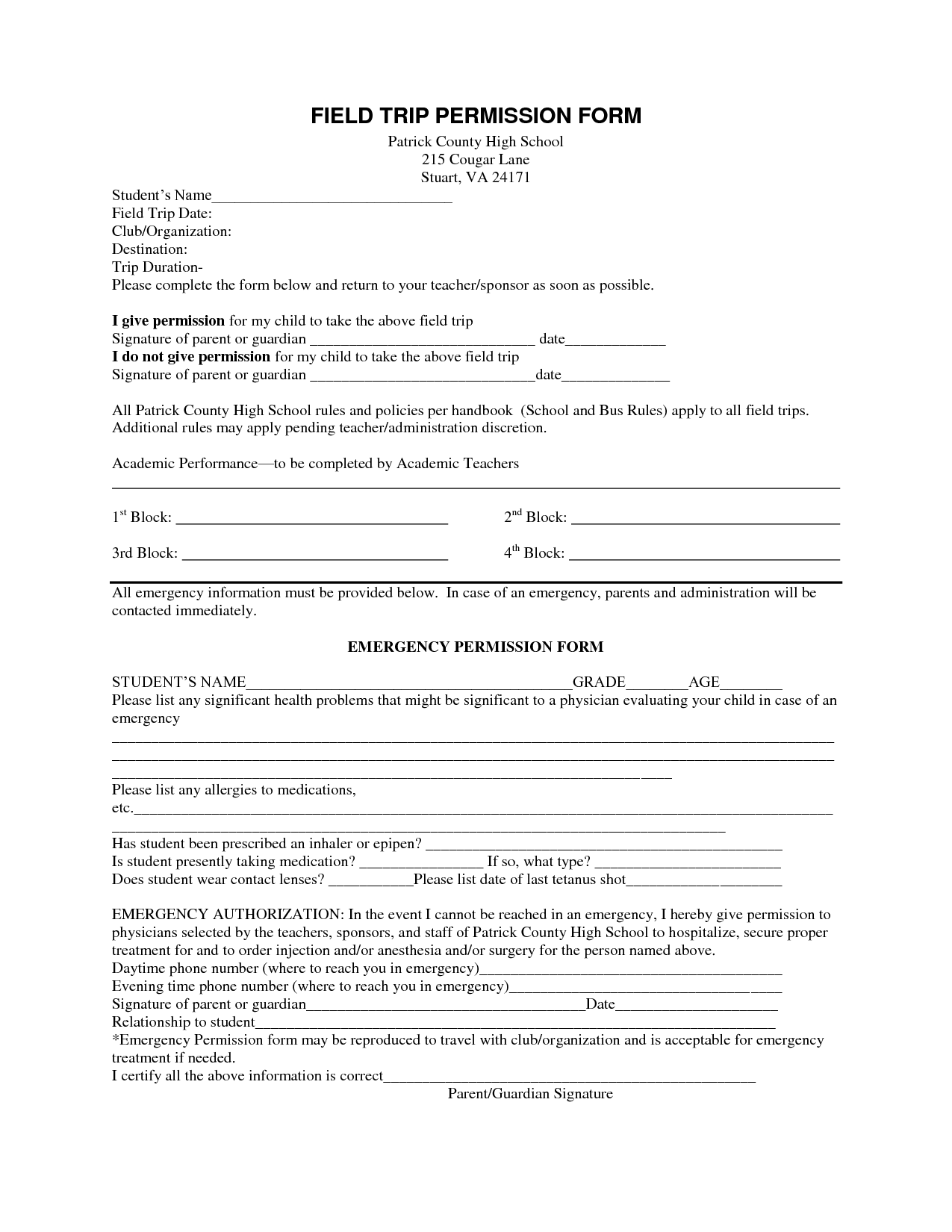 School field trip permission form template kubreforic school field trip permission form template awesome permission slip for field trip template school field maxwellsz