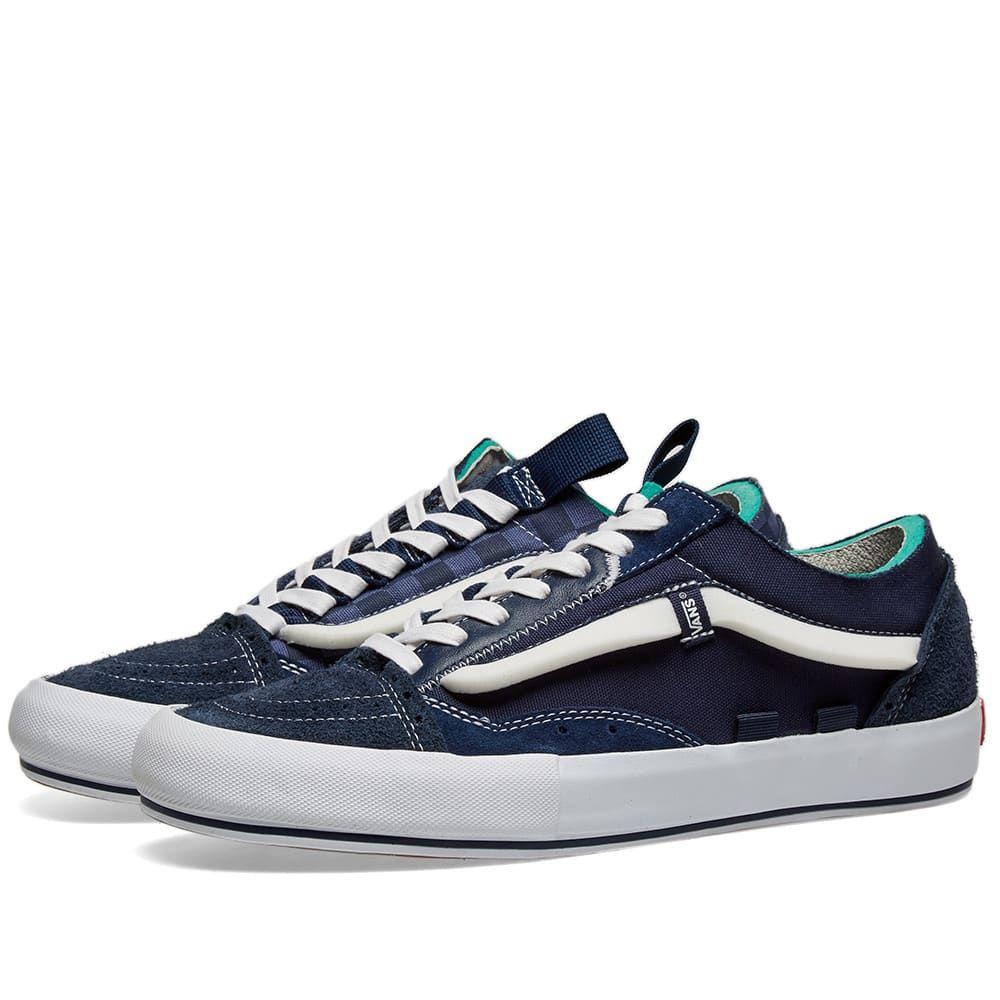 Blue Checkered Old Skool Cap Lx Sneakers In Dress Blue