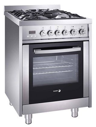 top rated kitchen stoves sears suites fagor rfa 244 df 24 dual fuel range with 4 gas burners 7 cooking programs and convection oven stainless steel glass 2016 amazon ranges
