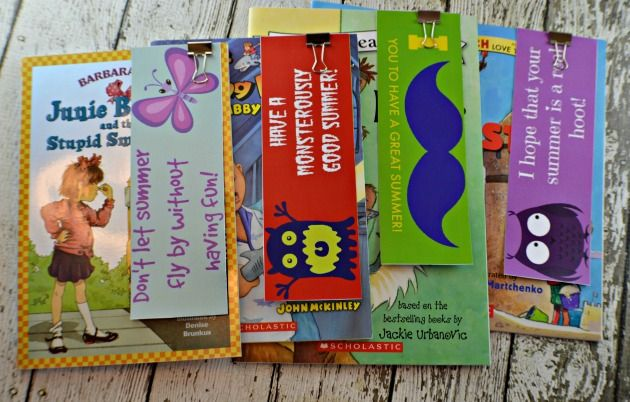 Free Printable: End of School Year Bookmarks