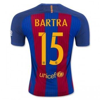 eee5ed46d10 Barcelona 16-17 Marc Bartra 15 Hemmatröja Kortärmad  Fotbollströjor ...