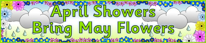 April Showers bring May Flowers display banner (SB9271 ...