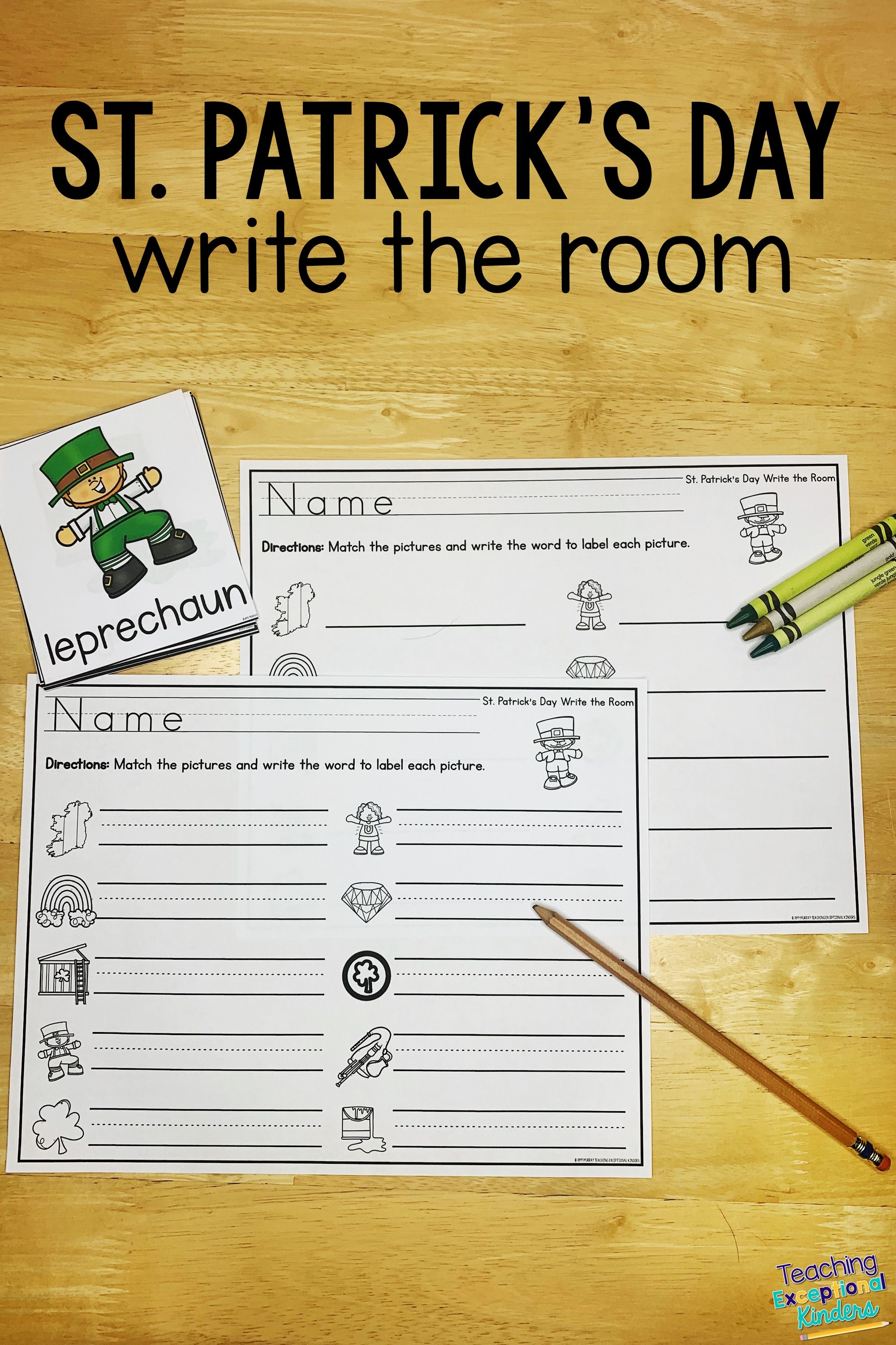 St Patrick S Day Write The Room