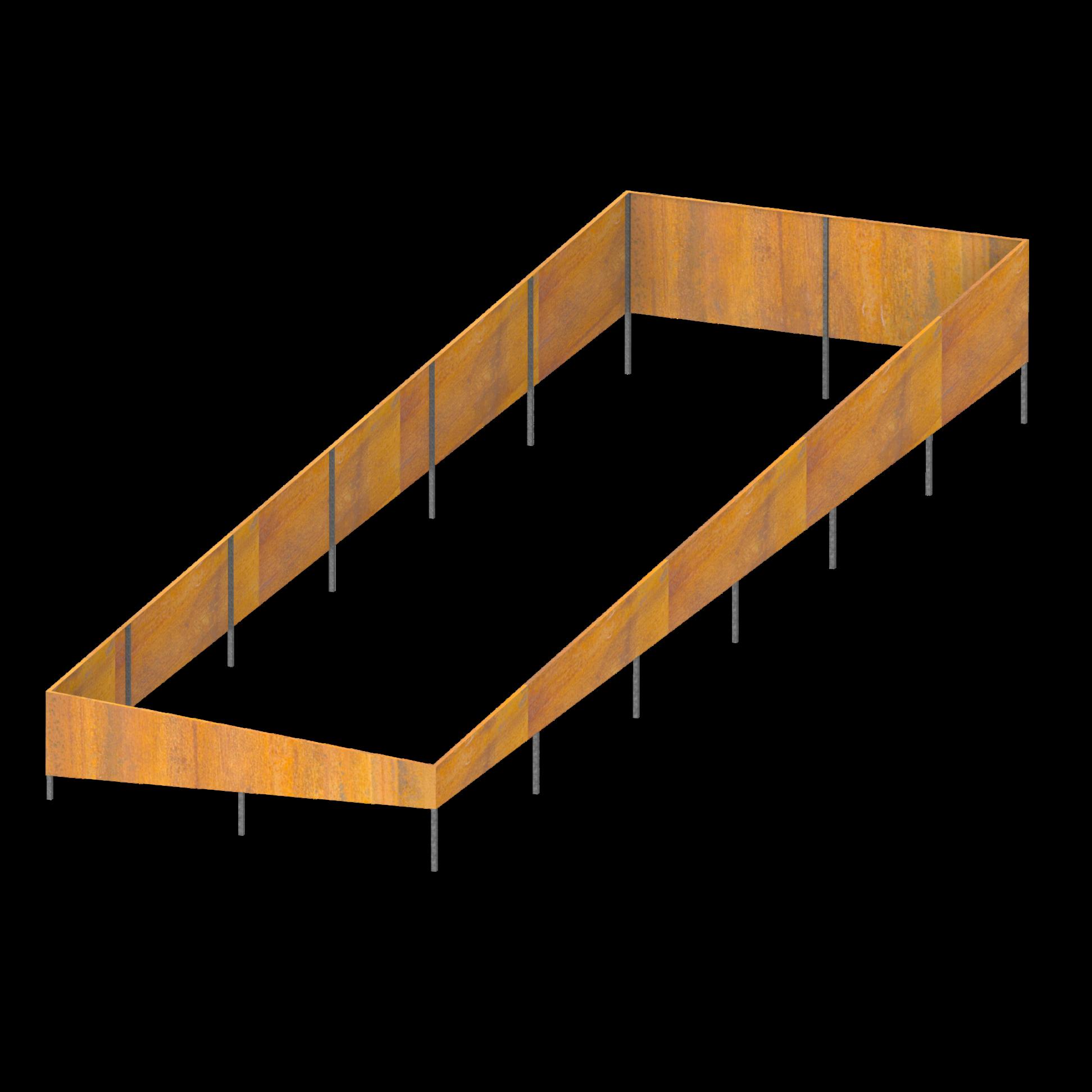 Metal Retaining Walls Geelong Corten Steel Steel Retaining Wall Steel Cladding Retaining Wall