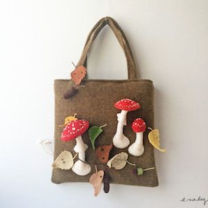 Felt and embroidery works by e.no.bag