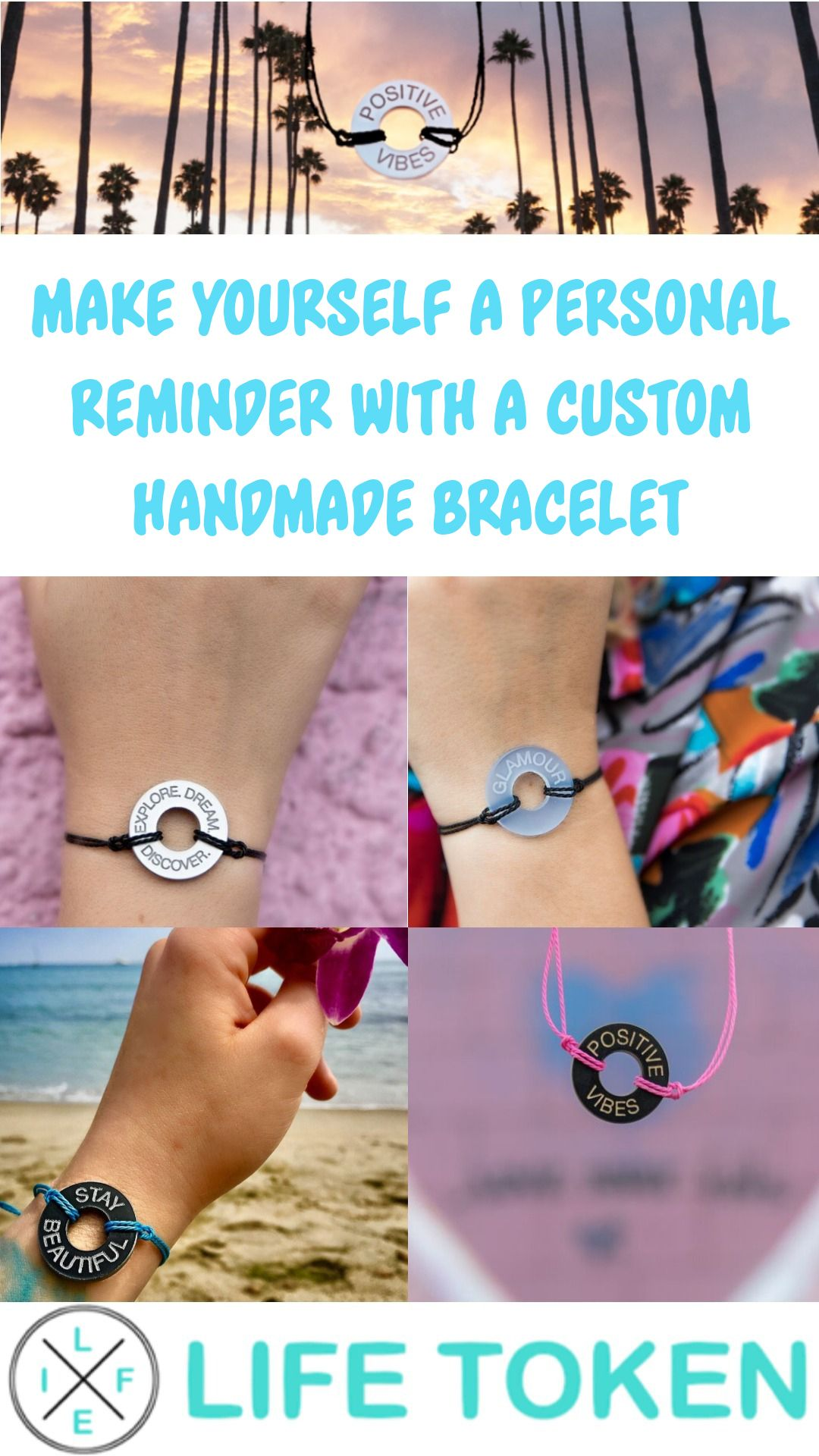 Customize Your Own Life Token Bracelet
