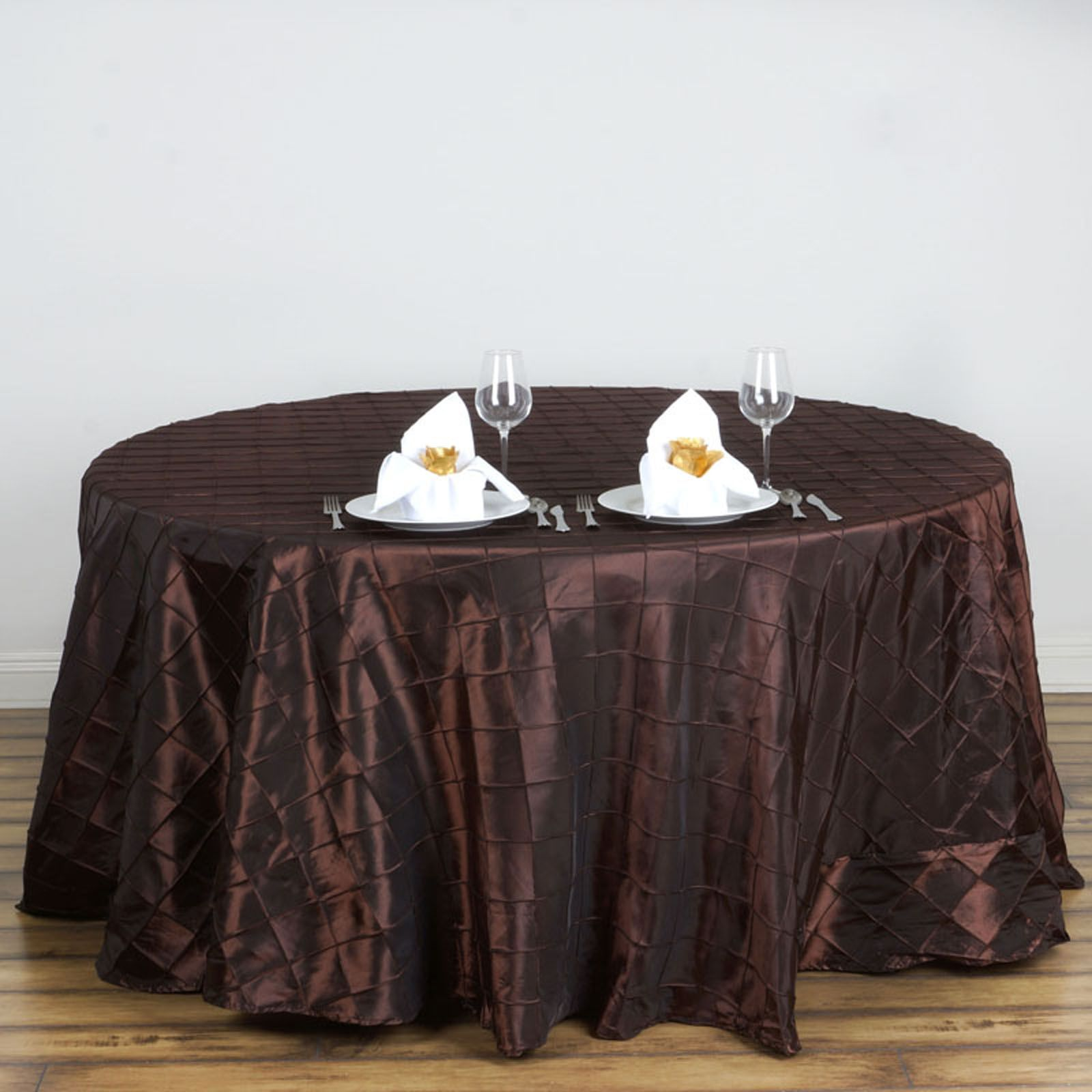 120 Pintuck Fancy Round Tablecloths Linens Wedding Party